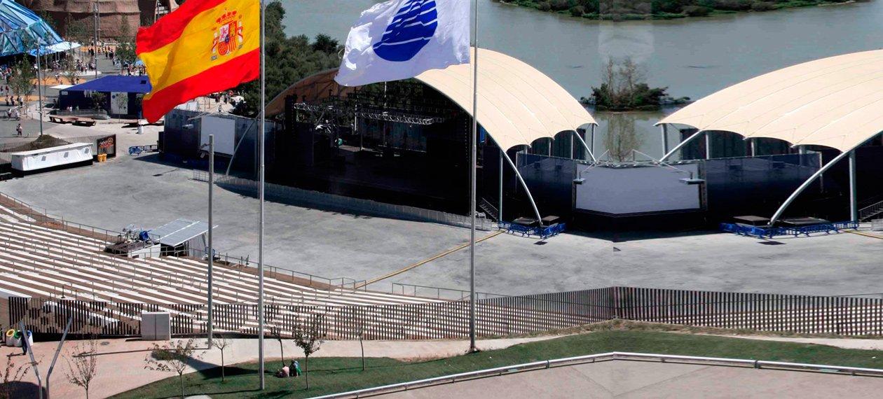 Demastils Banderas, mástiles de 25 M de altura